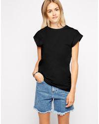 ASOS - Black Boyfriend T-Shirt In Tunic Length - Lyst
