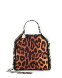 Stella McCartney - Multicolor Falabella Leopard-print Tiny Tote Bag - Lyst