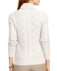 Lauren by Ralph Lauren | Natural Metallic Wool-cashmere Sweater | Lyst