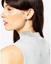 ASOS | Black Bead Through Earrings | Lyst