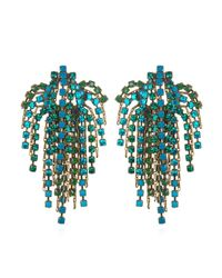 DANNIJO | Green Cecile Earrings | Lyst
