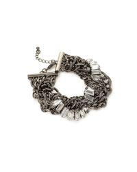 Forever 21 | Metallic Twisted Rhinestone Bracelet | Lyst
