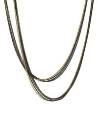 David Yurman - Yellow Four-row Chain Necklace With Gold - Lyst
