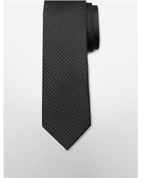 Calvin Klein | Black White Label Slim Tonal Dot Tie for Men | Lyst