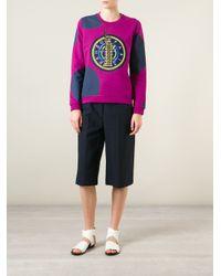 KENZO - Pink Dots and Liberty Cotton Sweatshirt - Lyst