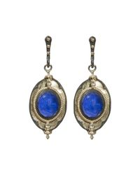 Armenta | Metallic Mixed Metal Lapis & Diamond Drop Earrings | Lyst