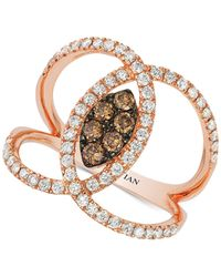 Le Vian | Pink Neo Geo By Diamond (7/8 Ct. T.w.) Openwork Swirl Ring In 14k Rose Gold | Lyst