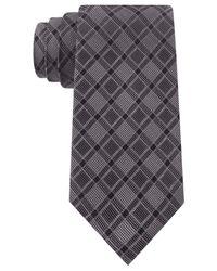 DKNY - Black Grid Slim Tie for Men - Lyst