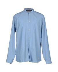 Suit - Blue Shirt for Men - Lyst