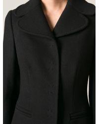 Dolce & Gabbana - Black Single Breasted Coat - Lyst