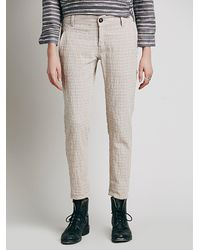 Free People | Metallic Womens Would Have Been Crinkle Pant | Lyst