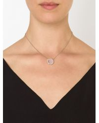 Kimberly Mcdonald - Diamond Pavé Pink Geode Necklace - Lyst