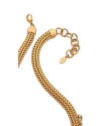 Elizabeth Cole - Metallic Short Crystal Bib Necklace - Lyst