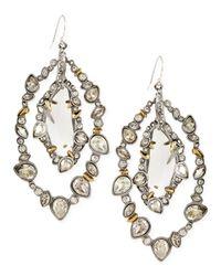 Alexis Bittar | Metallic Jardin Mystere Silvertone Jaggededge Crystalorbit Earrings | Lyst
