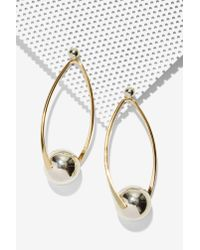 Nasty Gal | Illusion Metallic Earrings | Lyst