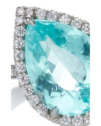 Paolo Costagli - Blue Pear Shaped Agl Certified Paraiba Type Tourmaline 11 O'Clock Ring - Lyst