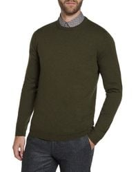 Ted Baker | Green Crinko Cashmere-blend Crew Neck Jumper for Men | Lyst