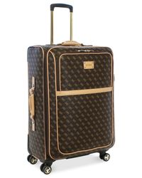 "Guess | Brown Logo Affair Dlx 25"" Spinner Suitcase for Men 