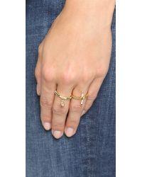 Elizabeth and James | Metallic Renzo Ring - Black/gold | Lyst