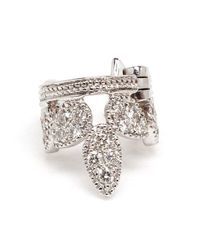 Yvonne Léon | White Diamond Helix Earring | Lyst