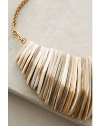 Anthropologie | Metallic Stacked Horn Bib Necklace | Lyst