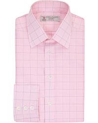 Turnbull & Asser | Pink Check Slim-fit Single-cuff Shirt - For Men for Men | Lyst