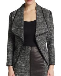 Yigal Azrouël | Black Metallic Tweed Jacket | Lyst