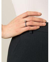 Puro Iosselliani | Metallic Sapphire Skull Ring | Lyst