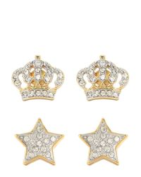 Juicy Couture | Metallic Pave Star Earring Set | Lyst