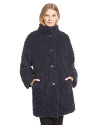 Gallery | Blue 'teddy' Faux Fur Coat | Lyst