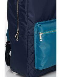 Forever 21 | Blue Men Colorblock Quilted Backpack for Men | Lyst