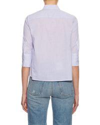 Equipment - Blue Esme Pinstriped Shirt - Lyst