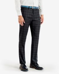 Ted Baker | Blue Checked Wool Trousers for Men | Lyst
