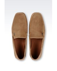 Armani Jeans | Natural Suede Driving Shoes for Men | Lyst