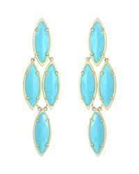 Kendra Scott - Blue Arminta Turquoise Marquise Earrings - Lyst