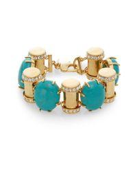 Lele Sadoughi | Blue Egyptian Deco Howlite & Marble Booster Link Bracelet | Lyst