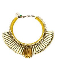 Sveva Collection | Metallic Pleated Choker | Lyst