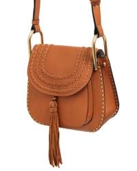 Chloé - Brown Small Hudson Studs Leather W/braids Bag - Lyst
