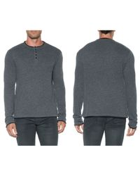 Joe's Jeans | Black Devi Long Sleeve Henley for Men | Lyst