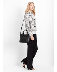 Vince | Black Stamped Crocodile Tote Bag | Lyst