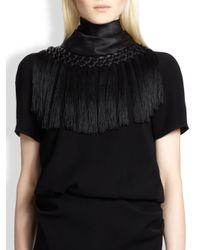 Altuzarra - Black Artemis Fringe-trim Dress - Lyst