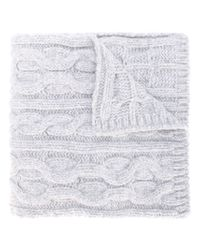 Woolrich - Gray Cable Knit Scarf - Lyst