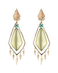 Alexis Bittar - Green Phoenix Deco Chandelier Clip Earring - Lyst