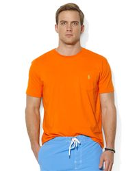Polo Ralph Lauren | Orange Classic-Fit Short-Sleeved Cotton Jersey Pocket Crewneck for Men | Lyst