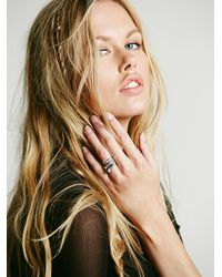 Free People | Metallic Womens Stacking Ring Trio | Lyst