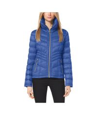 Michael Kors - Blue Quilted Nylon Jacket - Lyst