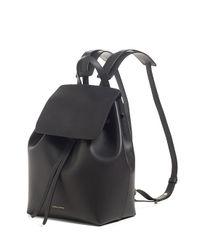 Mansur Gavriel - Black Mini Leather Backpack - Lyst