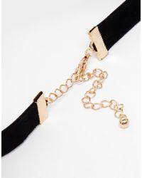 ASOS | Black Faux Pearl & Ribbon Choker Necklace | Lyst