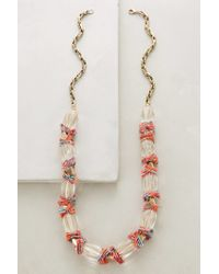 Anthropologie | Pink Wrapped Lucite Necklace | Lyst