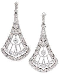 Wrapped in Love - Metallic ™ Diamond Chandelier Earrings (1/2 Ct. T.w.) In 14k White Gold - Lyst